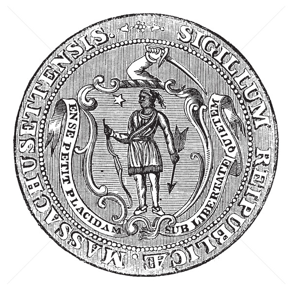 Great Seal of the Commonwealth of Massachusetts or the Seal of t Stock photo © Morphart