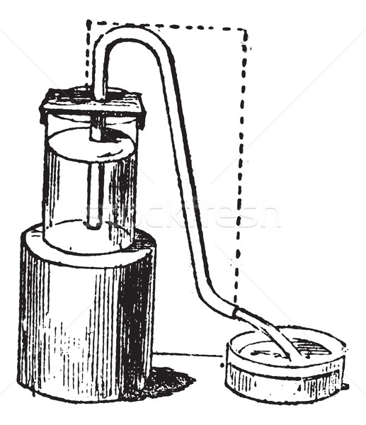 Siphon or syphon vintage engraving Stock photo © Morphart