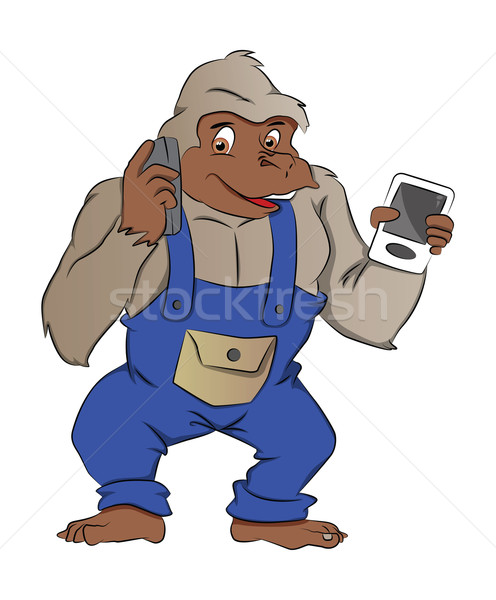 Gorilla with Gadgets, illustration Stock photo © Morphart