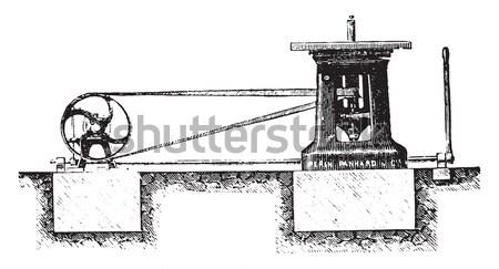 Arma de fogo ver mecanismo balde Foto stock © Morphart