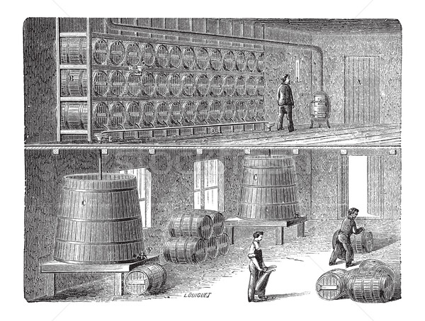 Método vinagre fabrico vintage gravado Foto stock © Morphart