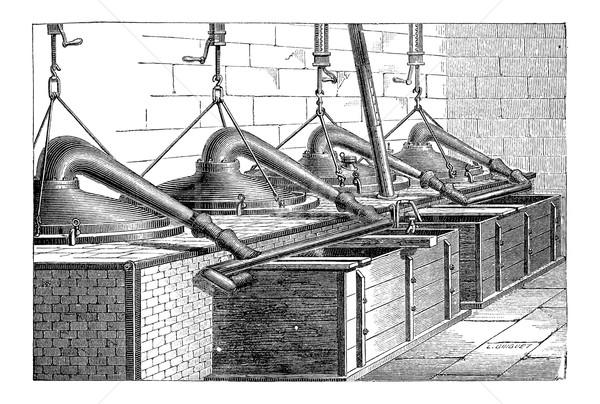 Production of Toluidine, vintage engraving Stock photo © Morphart