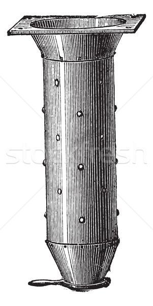 Verticaal beton mixer vintage oude Stockfoto © Morphart