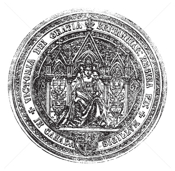 Great Seal Of Canada vintage engraving Stock photo © Morphart