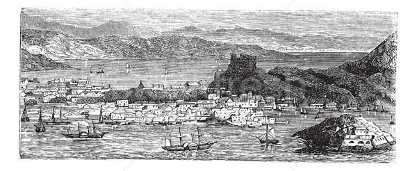 バージン諸島 ヴィンテージ 彫刻 古い 刻ま ストックフォト © Morphart