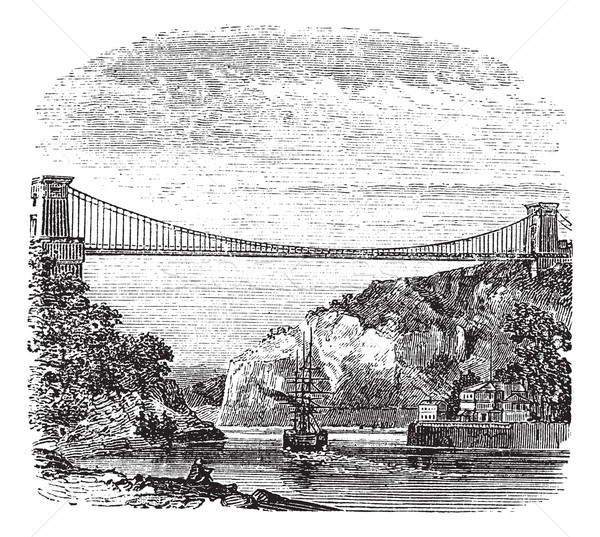 Clifton Suspension Bridge, in Clifton, Bristol to Leigh Woods, N Stock photo © Morphart