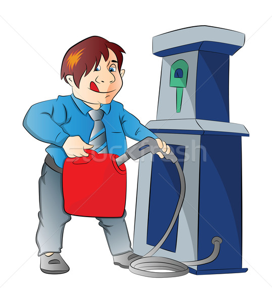 человека бензина контейнера иллюстрация нефть энергии Сток-фото © Morphart