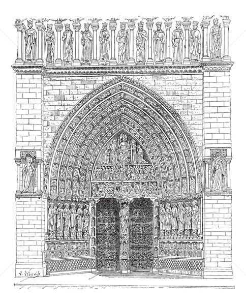 Door, Middle of the front Of Notre-Dame de Paris or Notre Dame C Stock photo © Morphart