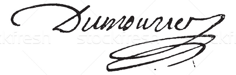 Signature of Charles-Francois Perier Dumouriez (1739-1821), vint Stock photo © Morphart