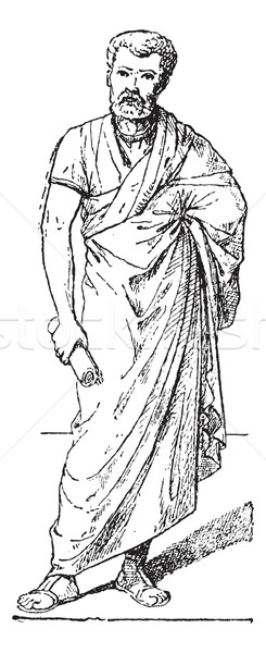 Toga, vintage engraving. Stock photo © Morphart