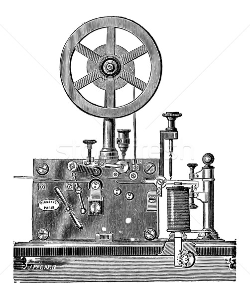 Printing Electrical Telegraph Receiver, vintage engraving Stock photo © Morphart