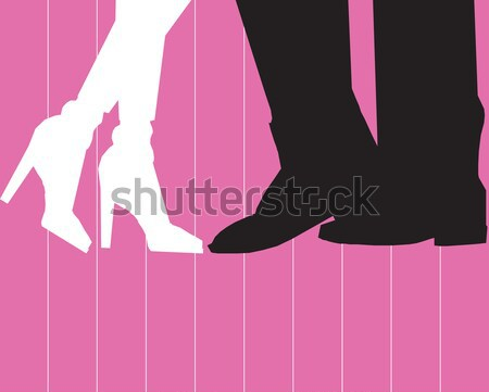 Wedding picture, bride and groom in love, the vector  Stock photo © Morphart