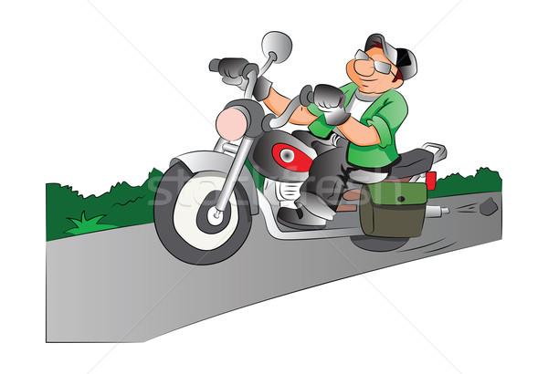 Motorcycle Rider, illustration Stock photo © Morphart