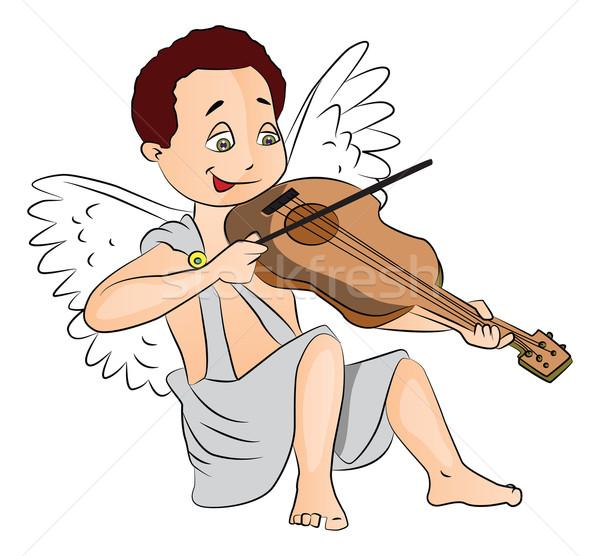 Vector hadas nino jugando violín cute Foto stock © Morphart