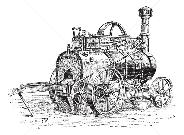 Agricultural Traction Engine, vintage engraving Stock photo © Morphart