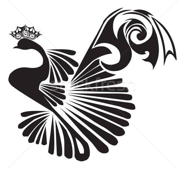 孔雀 入れ墨 デザイン ヴィンテージ 彫刻 美しい ストックフォト © Morphart