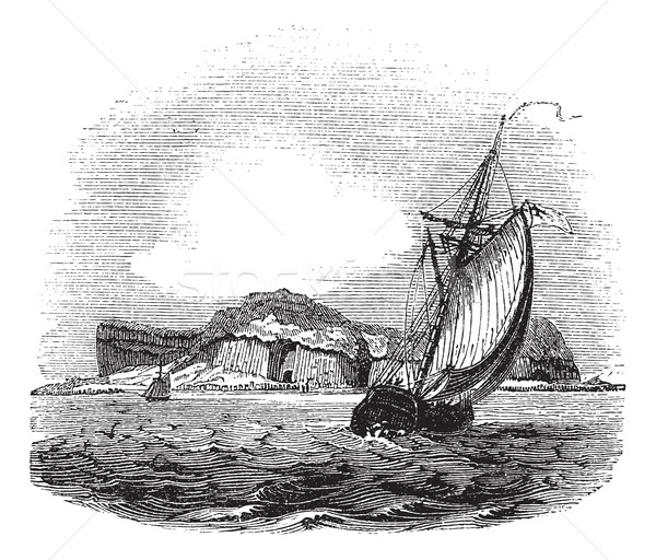 Stock photo: Staffa in Argyll and Bute Scotland vintage engraving
