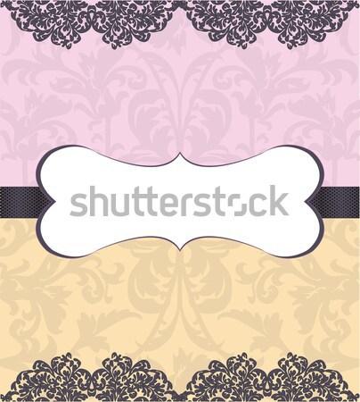 Menyasszonyi zuhany meghívó szeretet háttér klasszikus Stock fotó © Morphart