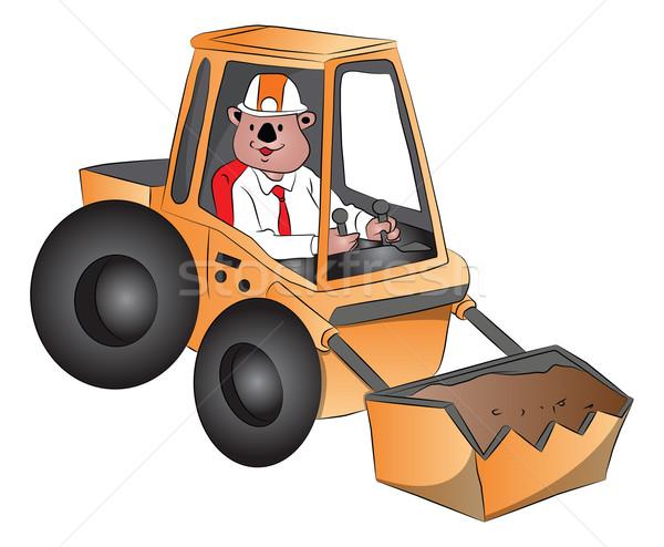 Vektor kotrógép férfi vezetés teherautó ipari Stock fotó © Morphart