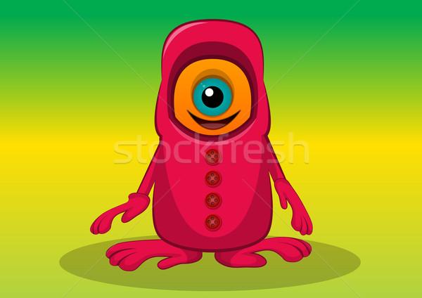Criatura ilustración naranja rojo monstruo grande Foto stock © Morphart