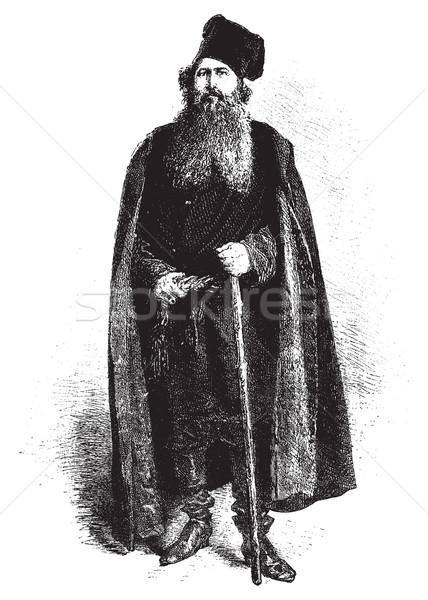 A merchant, vintage engraving. Stock photo © Morphart