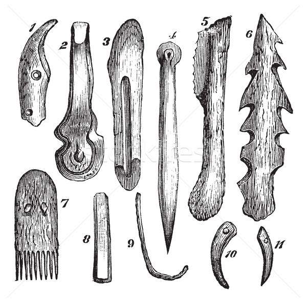骨 木材 ヴィンテージ 彫刻 古い 刻ま ストックフォト © Morphart