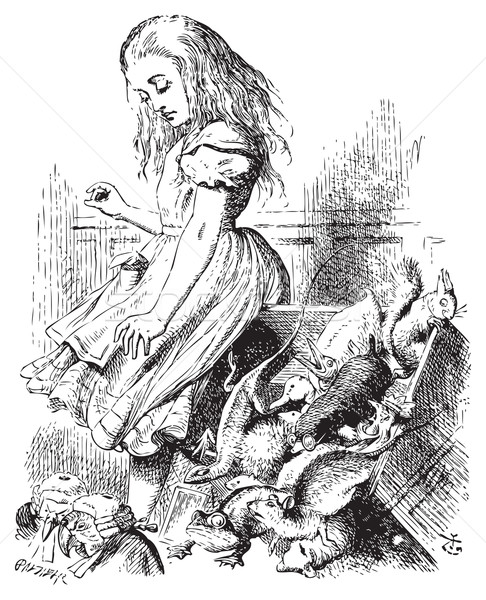 Giant Alice upsets the jury (literally) - Alice's Adventures in  Stock photo © Morphart