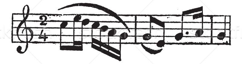 Musical Slur, vintage engraving Stock photo © Morphart