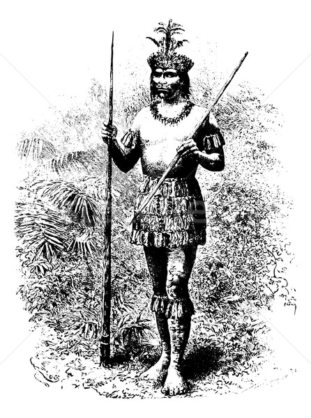 Coreguaje Indian of Amazonas, Brazil, vintage engraving Stock photo © Morphart