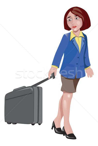 Woman Traveller, illustration Stock photo © Morphart