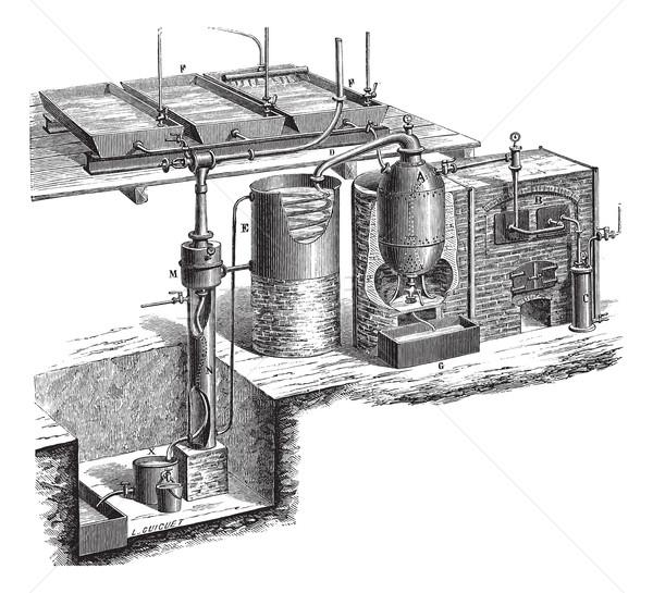 Vacuum distillation vintage engraving Stock photo © Morphart