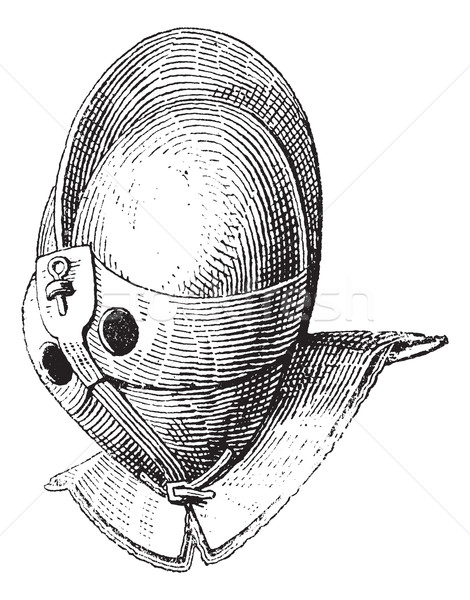 Gladiator helmet of galea vintage engraving Stock photo © Morphart