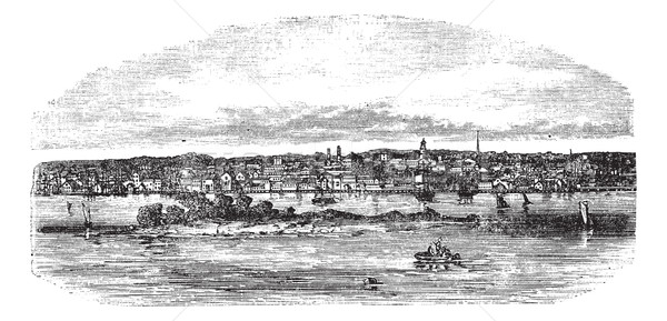 New Bedford in Massachusetts, USA, vintage engraved illustration Stock photo © Morphart