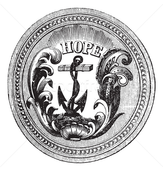 Seal of the State of Rhode Island USA vintage engraving Stock photo © Morphart