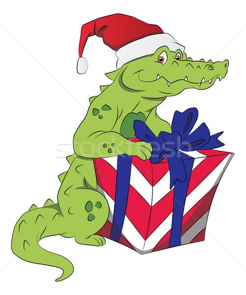 Vector krokodil hoed Stockfoto © Morphart