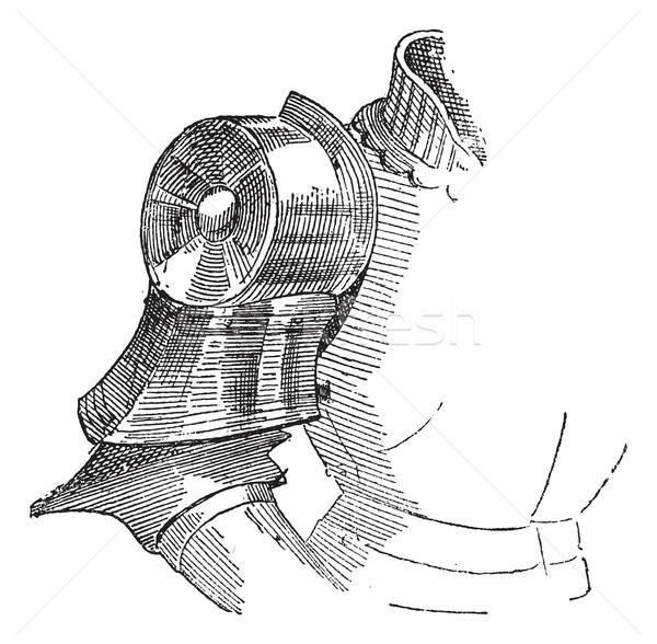 Hombro armadura vintage grabado ilustración Foto stock © Morphart