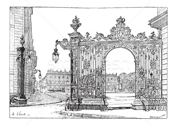 Place Stanislas, in Nancy, Lorraine, France, vintage engraving Stock photo © Morphart