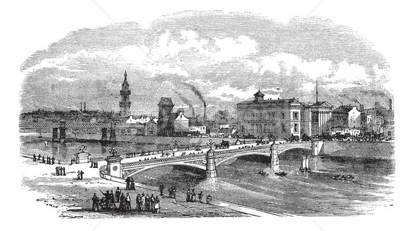 Ponte Glasgow Scozia vintage vecchio Foto d'archivio © Morphart