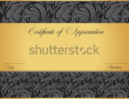 Vintage certificate of appreciation with ornate elegant retro ab Stock photo © Morphart