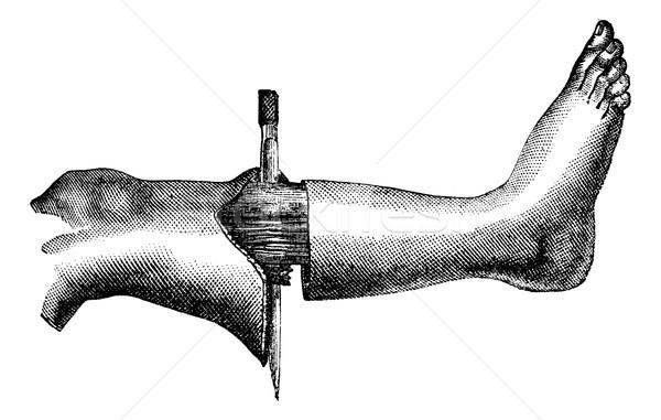 Láb módszer kettő körkörös képződmény első Stock fotó © Morphart