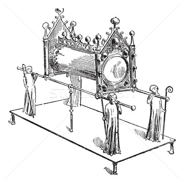 Reliquary, Cluny Museum, vintage engraving. Stock photo © Morphart