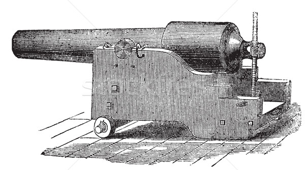 Parrott rifle or Parrott cannon vintage engraving. Stock photo © Morphart