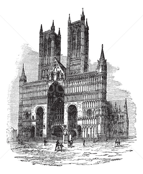 Lincoln Cathedral or The Cathedral Church of the Blessed Virgin  Stock photo © Morphart