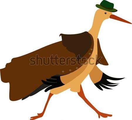 Heron, Color Illustration Stock photo © Morphart