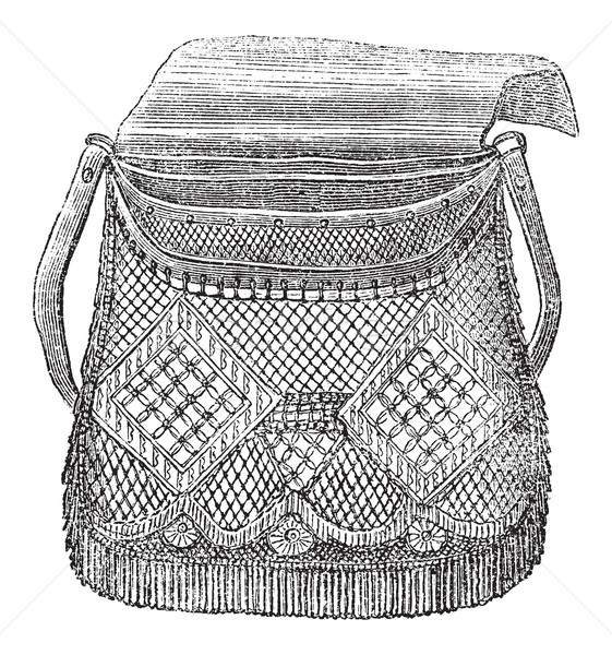 Fisherman's Bag, vintage engraving Stock photo © Morphart