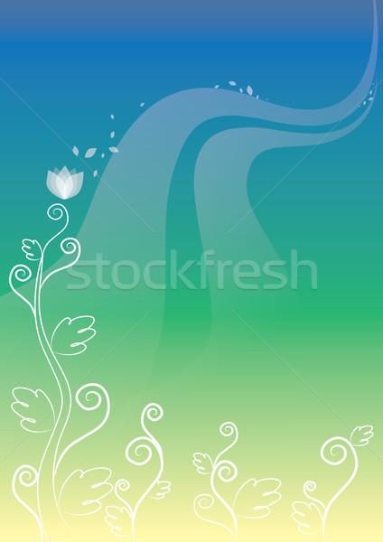Plant Background, illustration Stock photo © Morphart