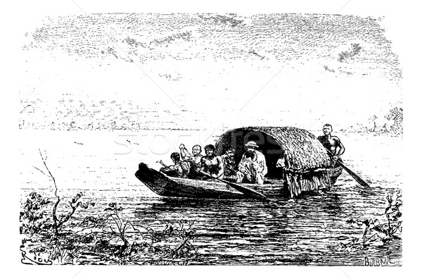 вход реке Бразилия Vintage рисунок эскиз Сток-фото © Morphart