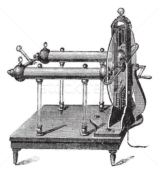электростатический генератор Vintage иллюстрация энциклопедия Сток-фото © Morphart