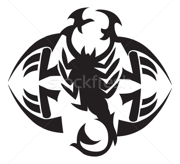 Scorpion tattoo design, vintage engraving. Stock photo © Morphart