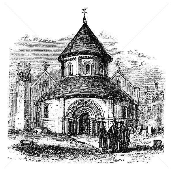 Templom szent Cambridge Egyesült Királyság klasszikus vésés Stock fotó © Morphart